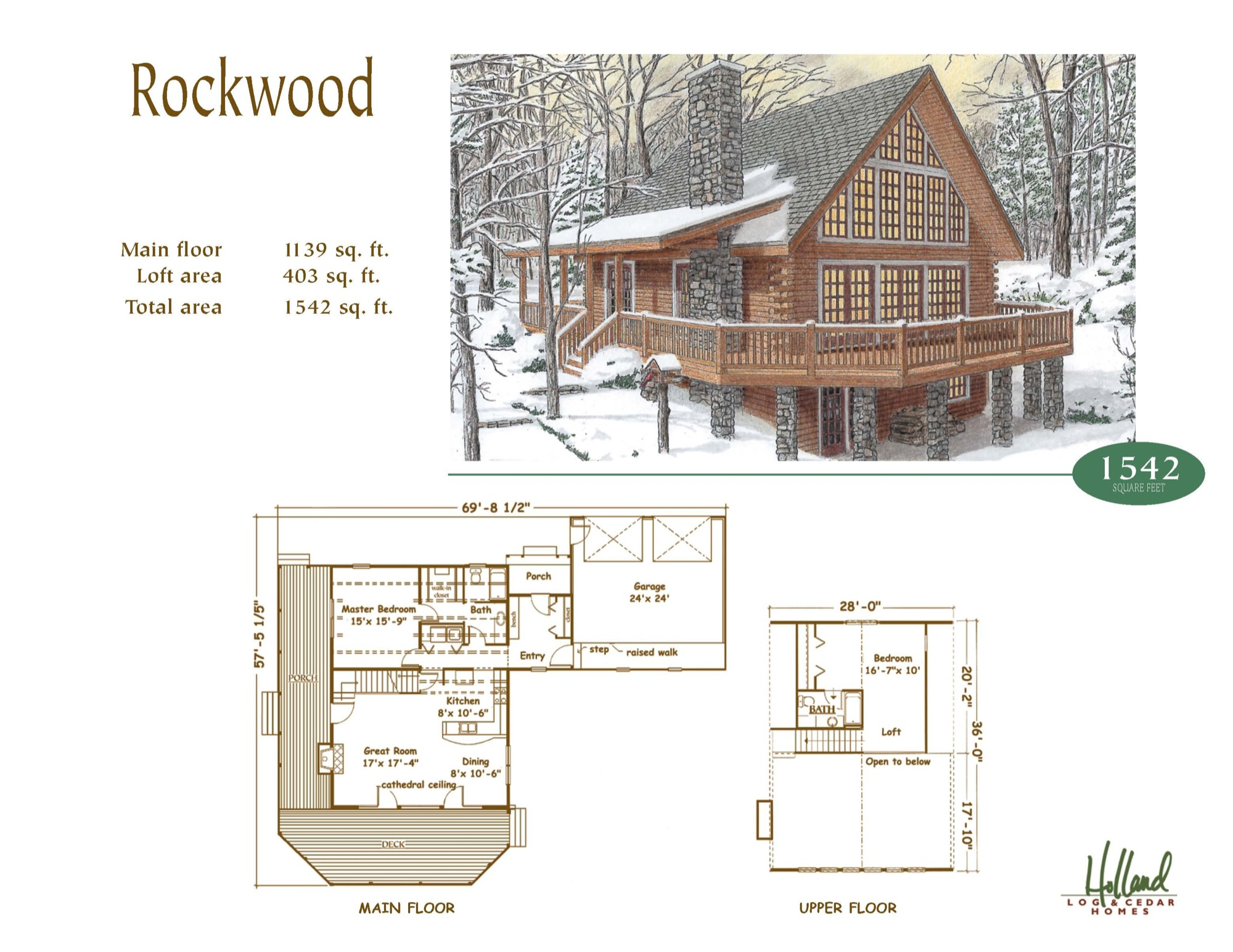 Holland log homes rockwood holland log homes for Rockwood homes